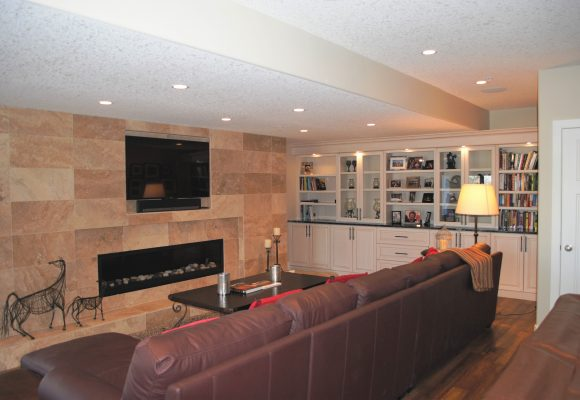 Family room renovation performed by Refine Renovations