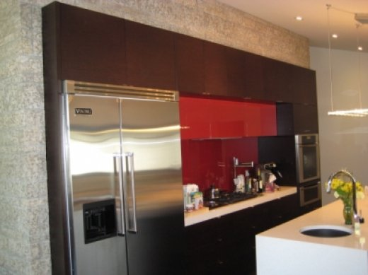 A built-in stove installed by Refine Renovations