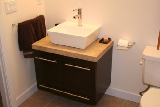 Single vanity installed by Refine Renovations