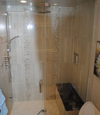 Glass shower installed by Refine Renovations