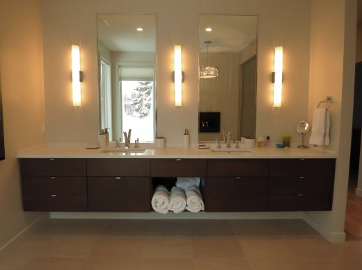 Double vanity sink installed by Refine Renovations in Edmonton, AB
